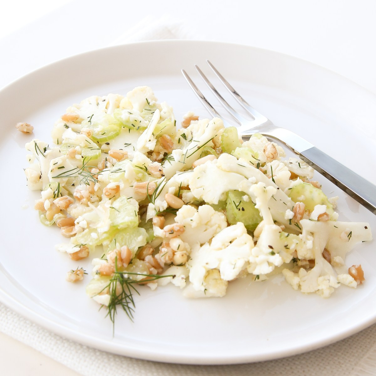 Shaved Cauliflower Salad with Farro