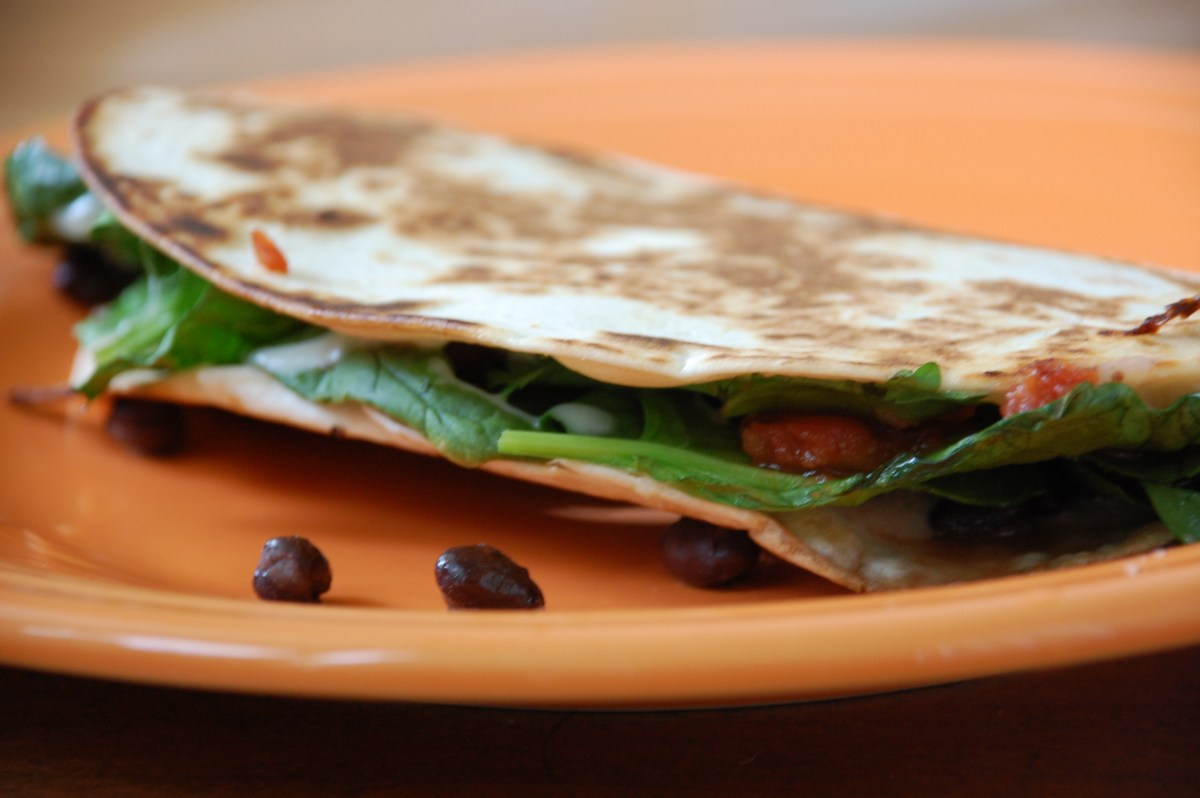 spinach quesadillas.