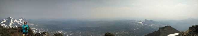 Props to Eric for the summit panorama.