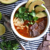 chicken tortilla soup.