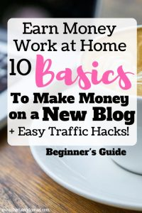 Easy Basics to Earn Money Blogging. The Rising Damsel #blog #startablog #earn #wah #wahm #blogging #traffic