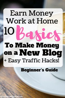 Easy Basics to Earn Money Blogging. The Rising Damsel #blog #startablog #earn #wah #wahm #blogging #traffic