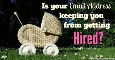 Is your email address keeping you from getting hired? The Rising Damsel #girlboss #careerhelp #careergoals #money #finance #future #emailaddress #hrapproved #recruiter #jobprospects #newjob #moms