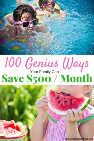 100 Unique Ways to Save Money You've Never Thought Of. The Rising Damsel #save #thrift #make #create #finances #financial #savings #retirement #fun