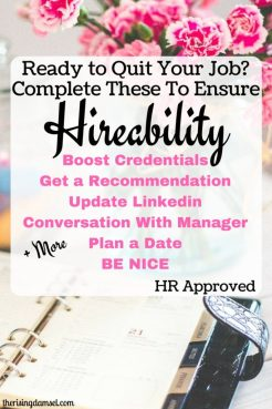 Make sure you complete all these steps to ensure hireability! The Rising Damsel #hired #hrapproved #career #jobs #jobsurvival