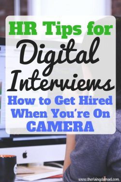 HR Tips for Digital Interviews. How to dress, setup your room and prepare answers for success. The Rising Damsel #career #job #money #interview #digital