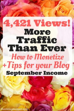 How to Gain More Blog Traffic. October Income Report. The Rising Damsel