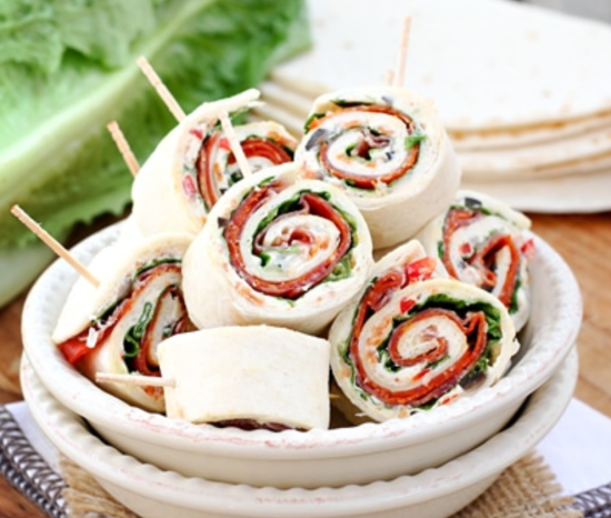 31 Fast and Easy Party Pleasers - Cheap Recipes to Impress. italian pinwheels. The Rising Damsel