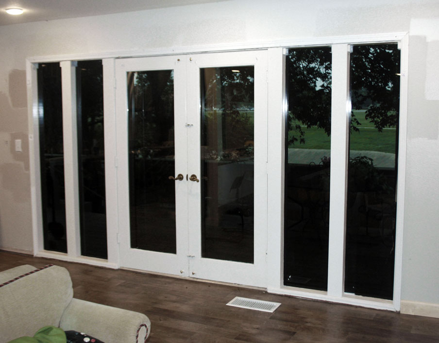 before and after patio door