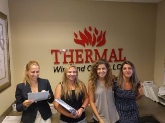 Thermal Wire Our Team Savina, Tetiana, Manuela, Ana