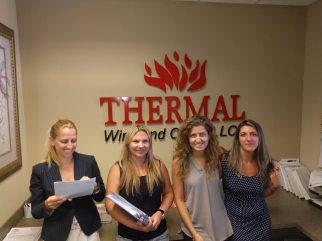 Thermal Wire Our Team Savina, Tetiana, Manuela, Ana