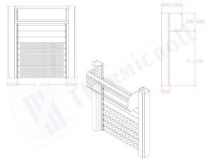 proyección de persianas thermicroll flujo de aire