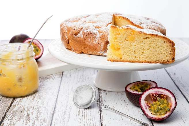 Slice of Passionfruit Butter Cake