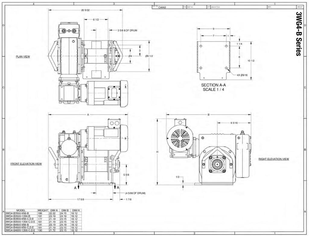 Series 3wg4 Atlas Ii Portable Power Winch