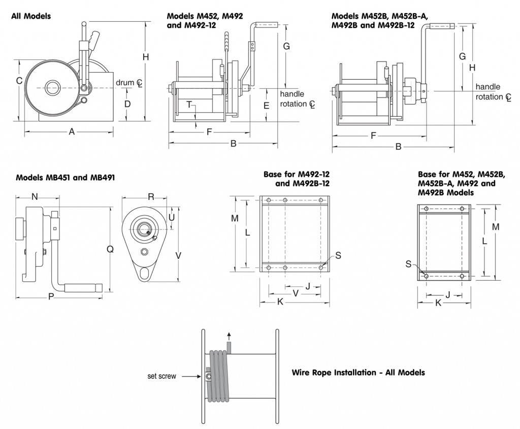 Spur Gear Double Reduction Hand Winches