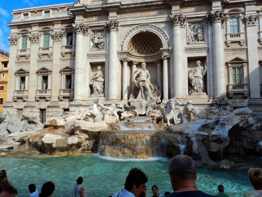 The Trevi Fountain (Fontana di Trevi) in Rome, Italy