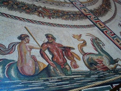 mosaic floor in the Vatican Museum