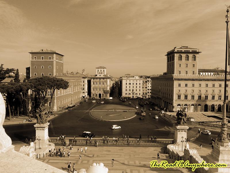 The Piazza Venezia  in Rome, Italy