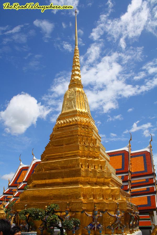 Photo of a stupa in Wat Phra Kaew (Temple of Emerald Buddha) in Bangkok, Thailand