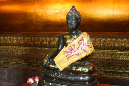 Buddha statue in the temple of the reclining buddha, bangkok, thailand