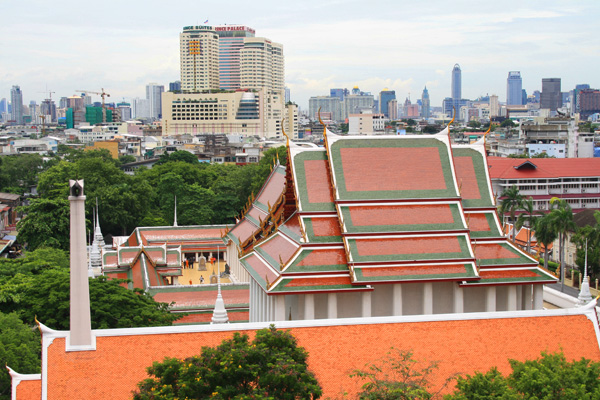 view from the golden mount, bangkok, thailand
