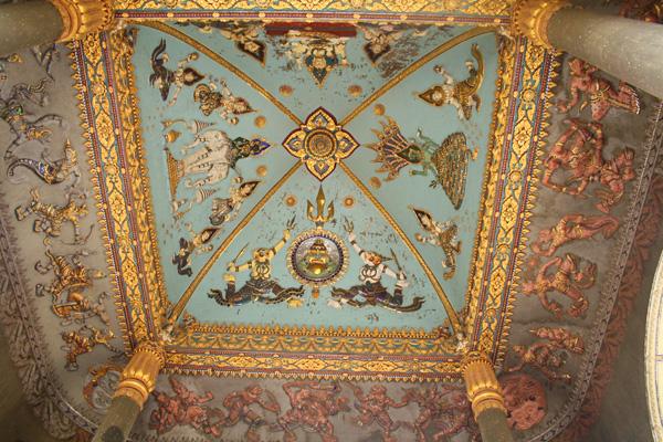 Ceiling in Patuxai in Vientiane, Laos
