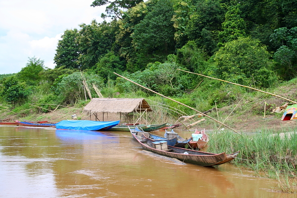boats on the Mekong River, laos