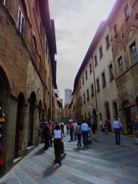 a street in san gimignano, italy