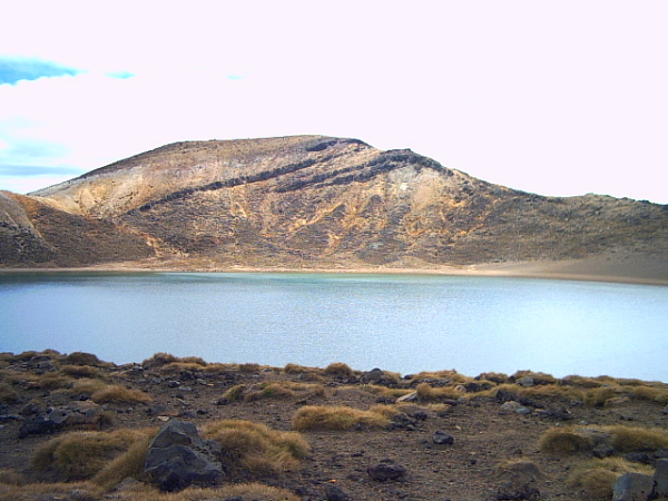Blue Lake on the Tongariro Crossing, New Zealand
