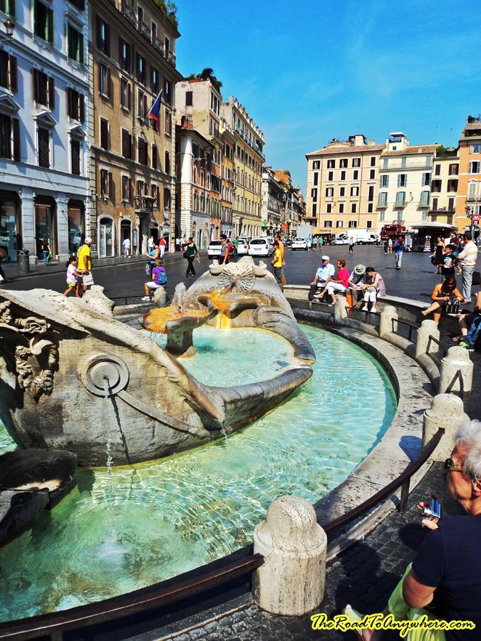 Fontana della Barcaccia at the Piazza di Spagna in Rome, Italy