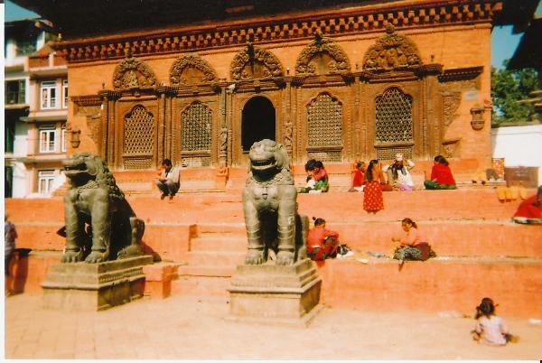 Shiva-Parbati Temple Durbar Square in Kathmandu, Nepal