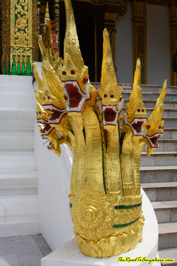 Nagas at Haw Pha Bang in Luang Prabang, Laos