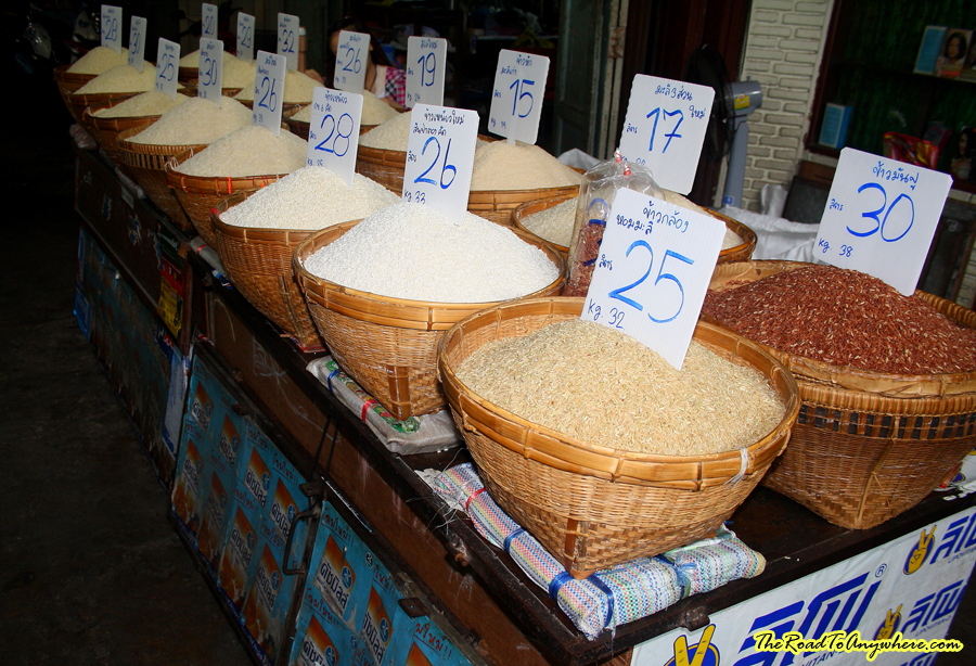 rice in a market in Chiang mai, Thailand