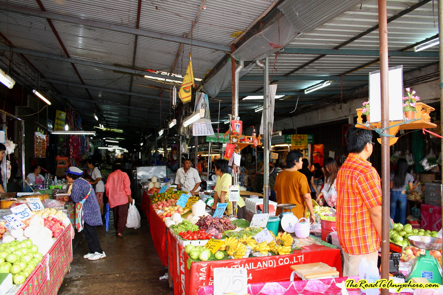 Fresh food market in Chiang Rai