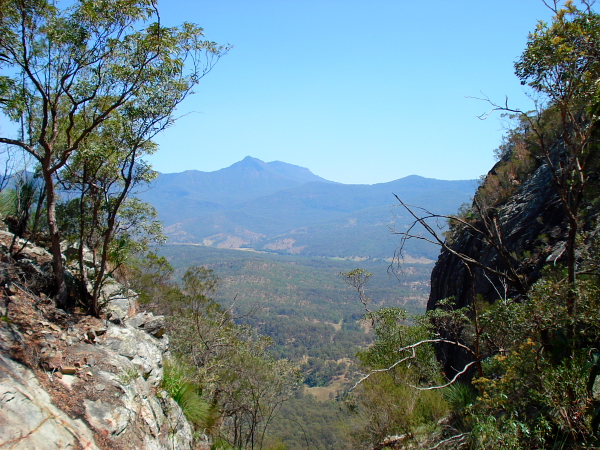 View from Mt Greville in Queensland, Australia