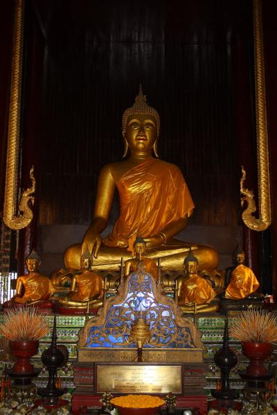 Buddha in Wat Pan Tao in Chiang Mai, Thailand
