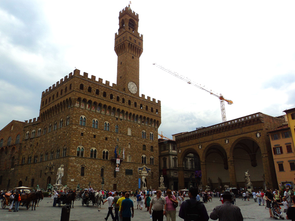 Old town hall in Florence, Italy