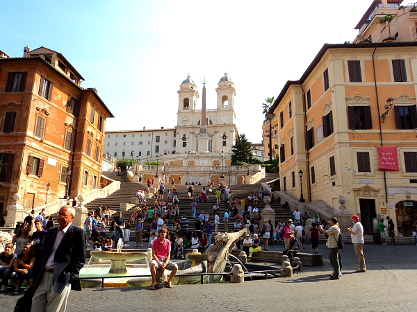 The Spanish Steps from piazza di spagna in Rome, Italy