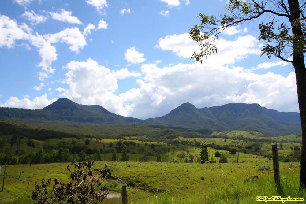 Countryside near main range national park in Queensland, Australia