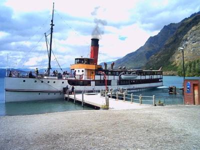 TSS Earnslaw steamboat in Queenstown, New Zealand