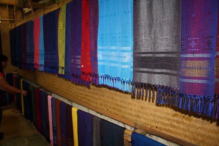 Scarfs and garments in a White Karen Village in Northern Thailand