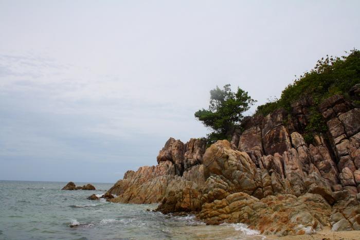 A rocky outcrop on Koh Phangan, Thailand