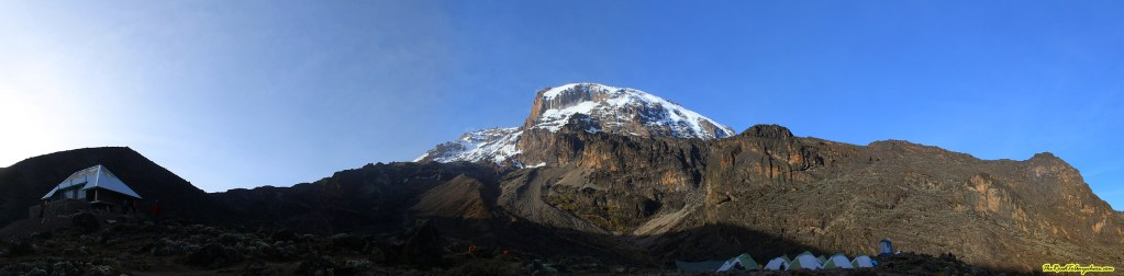 View of Mount Kilimanjaro from Baranco Camp