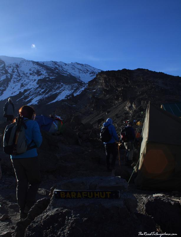 Barafu Hut sight on Mount Kilimanjaro, Tanzania