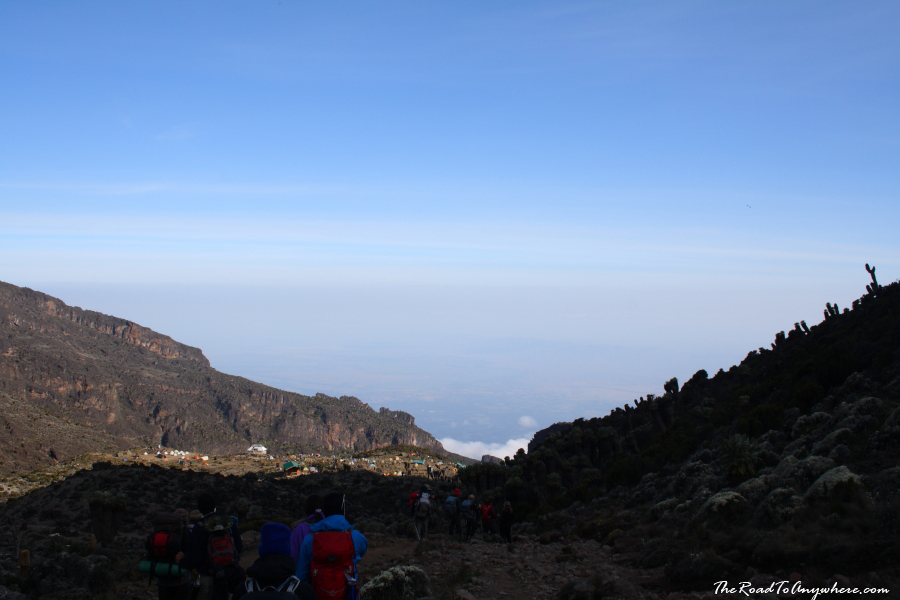 View of Barranco Camp on Mount Kilimanjaro, Tanzania