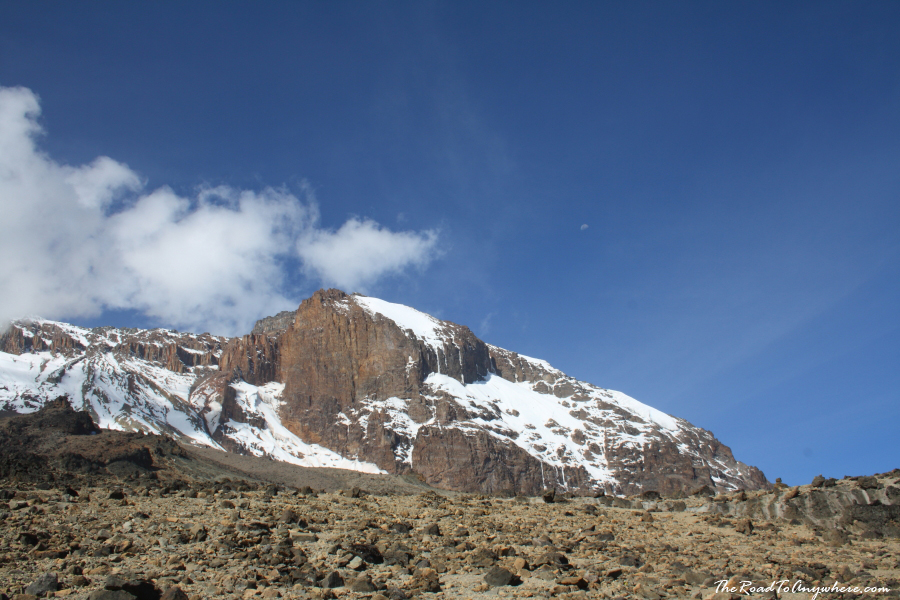 Kibo Peak and the Lava Tower on Mount Kilimanjaro, Tanzania