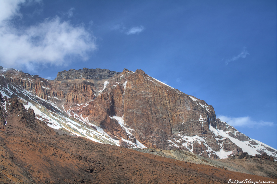 Kibo Peak from the lava tower on Mount Kilimanjaro, Tanzania