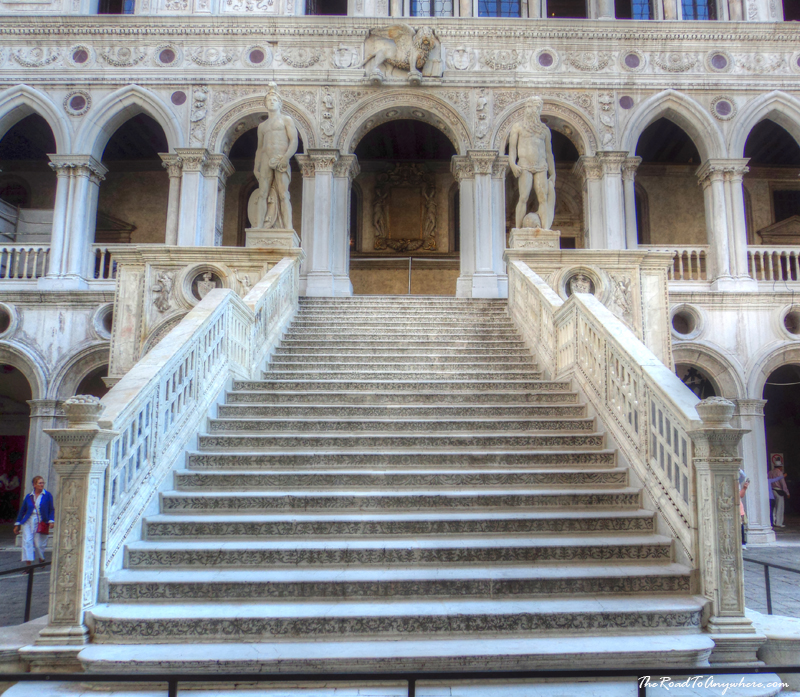 Staircase in the Doge's Palace in Venice, Italy