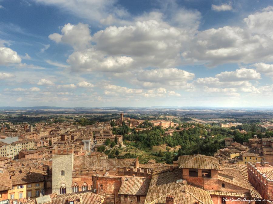 View across Siena, Tuscany, Italy