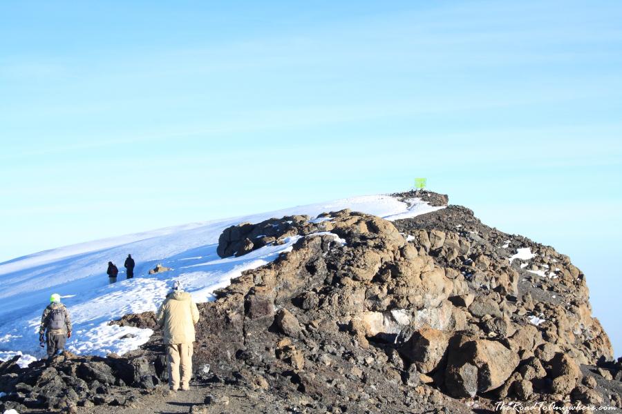 Uhuru Peak on Mount Kilimanjaro, Tanzania